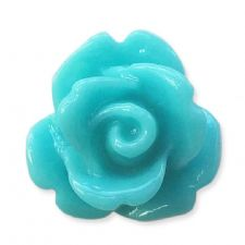 10mm Cyan Small Resin Rose Buds